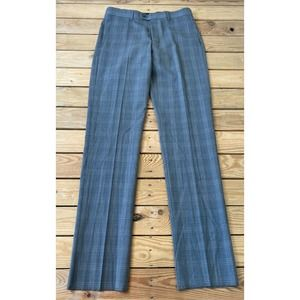 NWT VINCE CAMUTO Plaid Wool Slim Fit Dress Pants